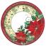 Natale Coordinati in cartoncino | Piatto